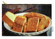 Plate With Sliced Bread And Knives Carry-all Pouch