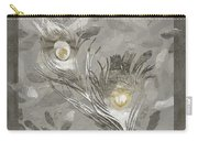 Platinum Feathers, Peacock Feathers Home Fashion Carry-all Pouch