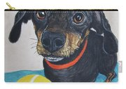Playful Dachshund Carry-all Pouch by Megan Cohen