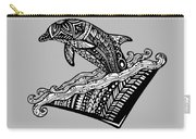 Playful Dolphin Zentangle Carry-all Pouch