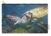 Playful Green Sea Turtle Carry-all Pouch