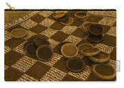 Playing Checkers On A Rug Carry-all Pouch