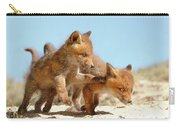 Playing Fox Kits Carry-all Pouch