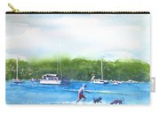 Playing With The Dogs At Rose Bay Carry-all Pouch