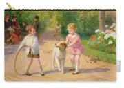 Playing With The Hoop Carry-all Pouch by Victor Gabriel Gilbert