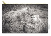 Playtime In Africa- Cheetah Cubs Acinonyx Jubatus Carry-all Pouch