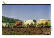 Ploughing In Nivernais Carry-all Pouch by Rosa Bonheur