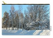 Plowed Winter Street In Sunlight Carry-all Pouch
