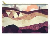 Plum Fields Carry-all Pouch