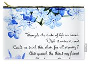 Plumbago   Poem Carry-all Pouch