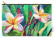 Plumeria Garden Carry-all Pouch by Marionette Taboniar