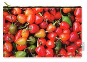 Plump Red Peppers Photo Stock Carry-all Pouch