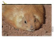 Plump Resting Prairie Dog Laying Down Carry-all Pouch