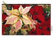 Poinsetta Greetings Carry-all Pouch