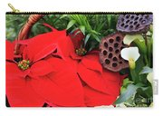 Poinsettia Basket For Christmas Carry-all Pouch