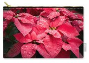 Poinsettia Morning Dew Carry-all Pouch