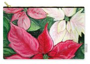 Poinsettia Pastel Carry-all Pouch by Nancy Mueller