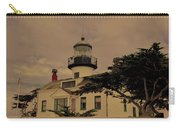Point Pinos Lighthouse Antiqued Carry-all Pouch
