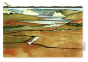 Point Reyes, Ca, Drakes Beach Estuary, Midday Tide, Watercolor Plein Air Carry-all Pouch