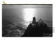 Point Reyes Lighthouse - Black And White Carry-all Pouch