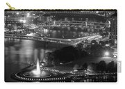 Point State Park In Black And White Carry-all Pouch