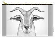 Farm Goat In Pointillism Carry-all Pouch