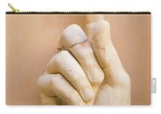 Pointing Finger, Statue Of Constantine, Rome, Italy Carry-all Pouch