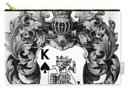 Poker King Spades Black And White Carry-all Pouch