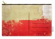 Poland Flag Postcard Carry-all Pouch