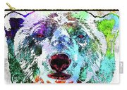 Polar Bear Colored Grunge Carry-all Pouch