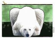 Polar Bear - Green Carry-all Pouch