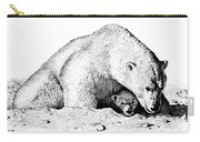 Polar Bear Protects Her Young Carry-all Pouch