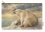 Polar Bear Rests On The Ice - Arctic Alaska Carry-all Pouch
