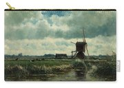 Polder Landscape With Windmill Near Aboude Carry-all Pouch