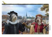 Polish Lowland Sheepdog Art Canvas Print - Prince And Princess Of Orange Carry-all Pouch
