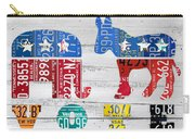 Political Party Election Vote Republican Vs Democrat Recycled Vintage Patriotic License Plate Art Carry-all Pouch