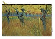 Pollarded Willows And Setting Sun Carry-all Pouch