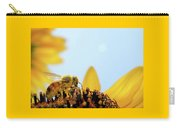 Pollen-coated Honey Bee On A Sunflower Carry-all Pouch