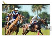 Polo Players And Ponies Carry-all Pouch