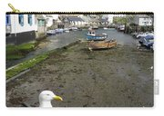 Polperro Harbour Cornwall And Seagull Carry-all Pouch