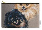 Pomeranian Pair Carry-all Pouch