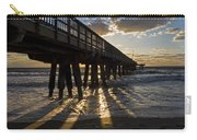Pompano Beach Fishing Pier At Sunrise Florida Sunrays Carry-all Pouch