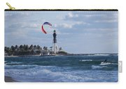 Pompano Beach Kiteboarder Hillsboro Lighthouse Carry-all Pouch