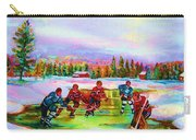 Pond Hockey Blue Skies Carry-all Pouch