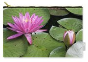 Pond Lily And Bud Carry-all Pouch