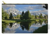 Pond Reflection At Schwabacher Landing Carry-all Pouch