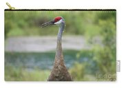 Sandhill Crane With Pond Carry-all Pouch