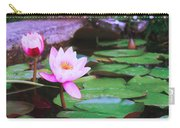 Pond With Water Lilly Flowers Carry-all Pouch