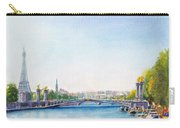Pont Alexandre IIi Or Alexander The Third Bridge Over The River Seine In Paris France Carry-all Pouch