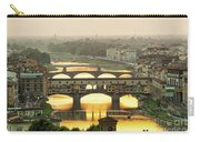 Ponte Vecchio Enlighten By The Warm Sunlight, Florence. Carry-all Pouch